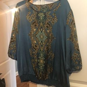 Xl blouse silk dressbarn